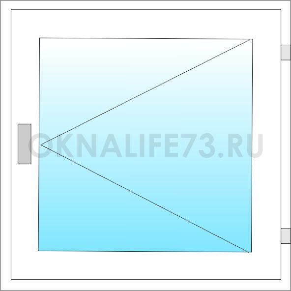 Оконный блок ОС - схема 1ф
